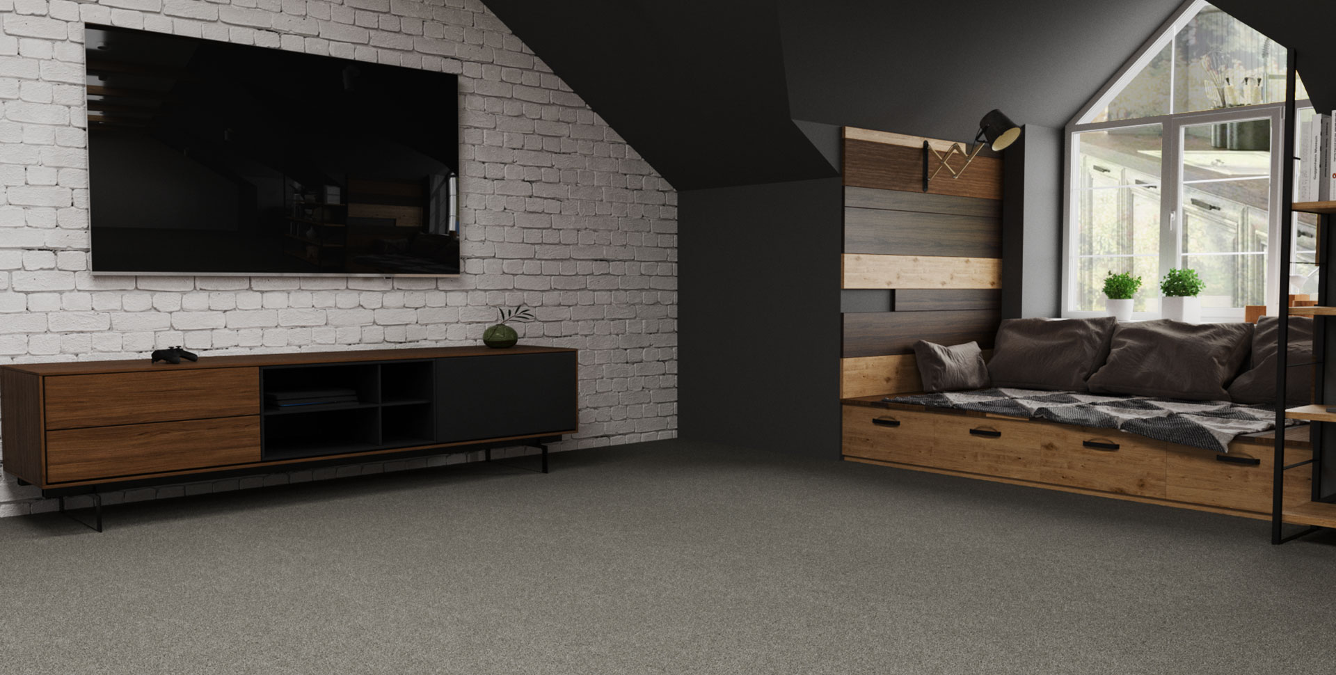 Living Room Carpet Installation